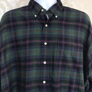 Men's Ralph Lauren Green Plaid Button-Down Shirt